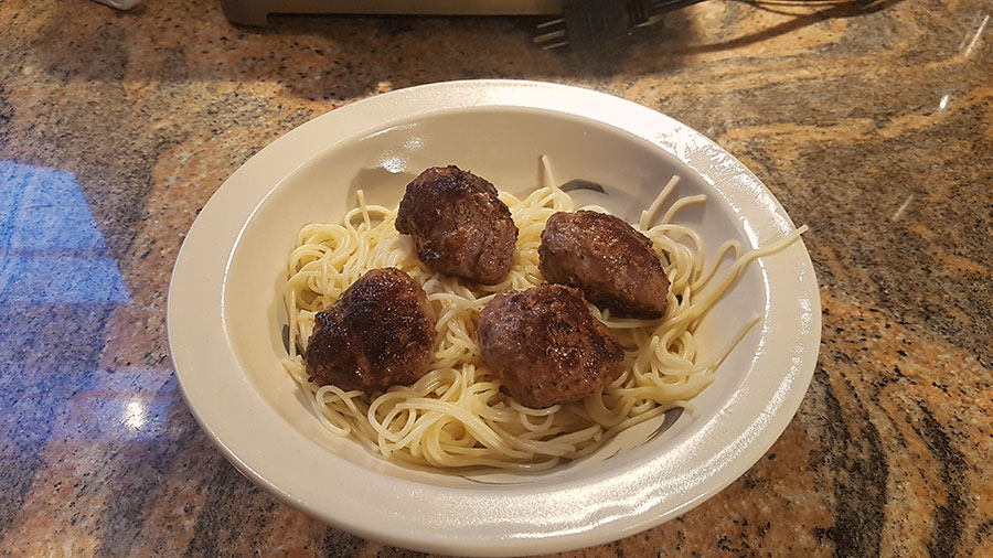trulocal meatballs cooked