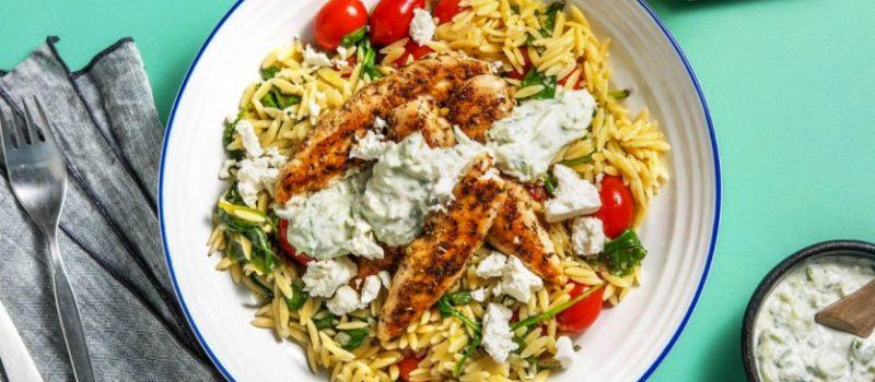chefs plate greek chicken